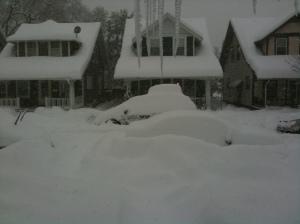Snowy street, 2/10.10