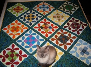 """Quilting Bee"" (with feline embellishment)"