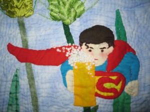 Superman with a beer