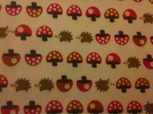 Japanese hedgehog fabric