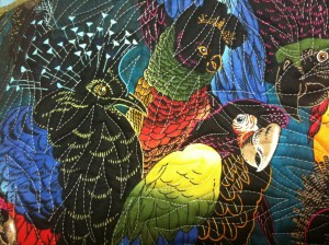 Quilting detail, Convergence Birds
