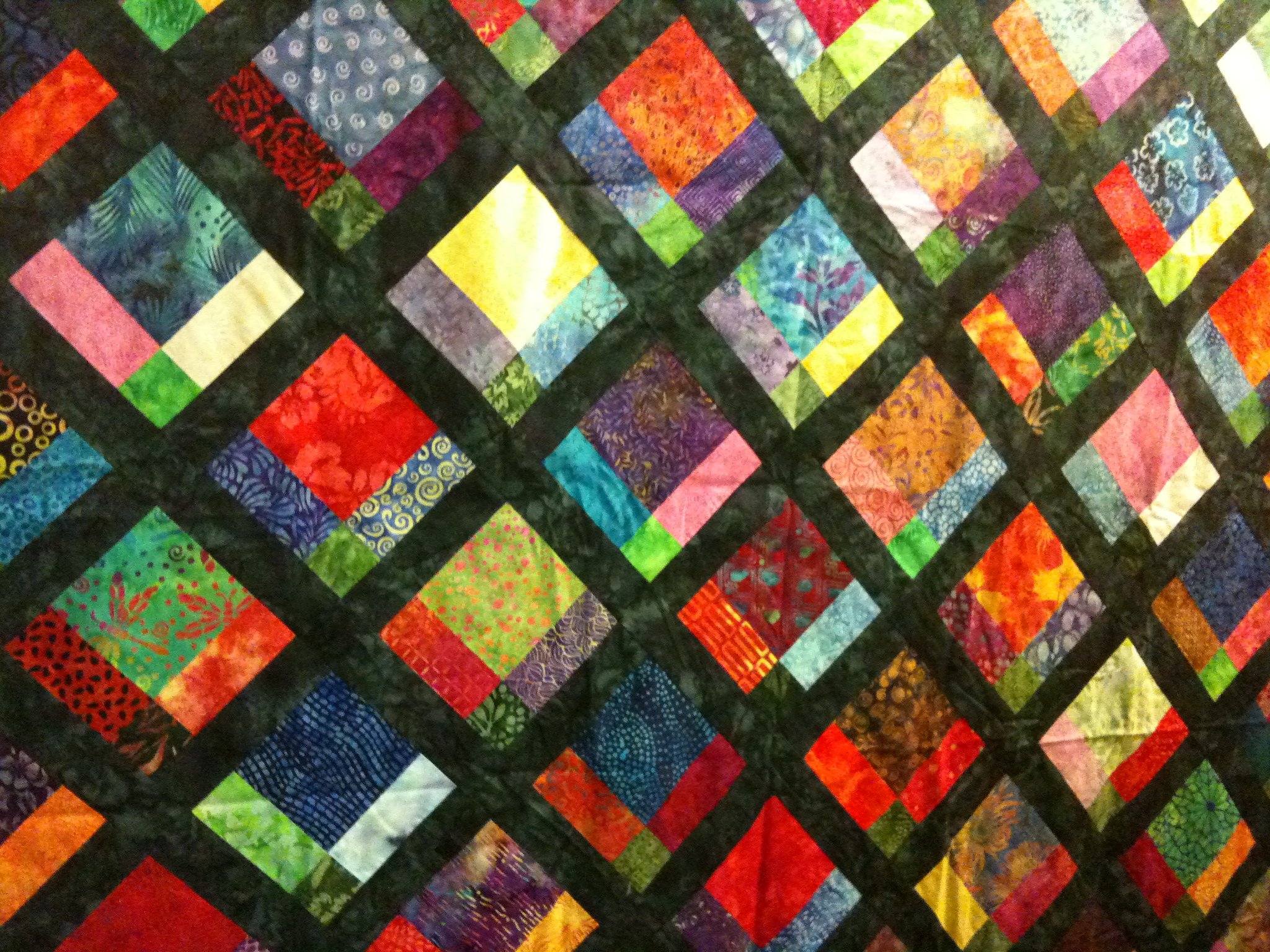 Reluctant quilter: hidden 9 patch/disappearing 9 patch tutorial.