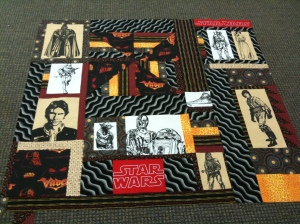 Joan's Star Wars quilt