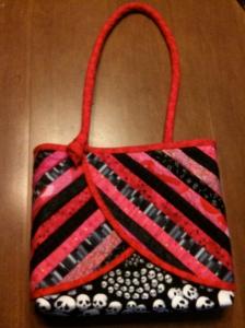 Hot pink skull purse