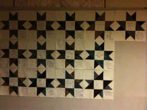 Thirteen blocks done!
