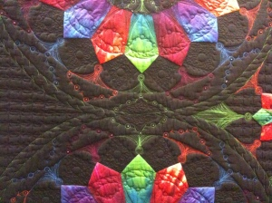 Detail, QwM teacher quilt exhibit