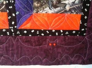 Bat border closeup