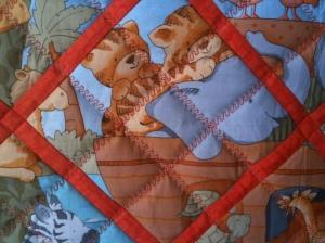 Serpentine stitch grid
