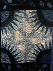 """Detail, """"Blue Beauty,"""" by Janet Joehlin"""