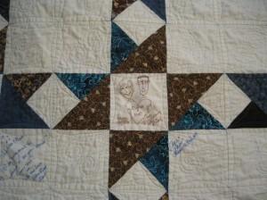 detail A&M quilt
