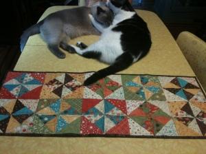 Double Pinwheel Table Runner