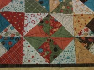 Detail, Double Pinwheel Table Runner