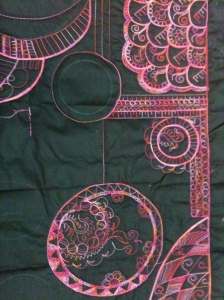 A Zen-Sue-dle wholecloth in progress