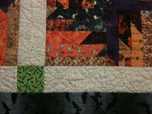 Quilting detail, Halloween Buzz Saw