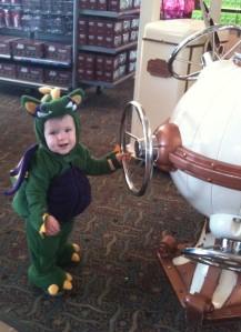 Ronan the baby dragon at Hershey's Chocolate World