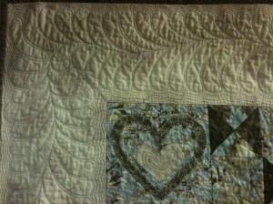 Border quilting detail, Ronan's Quilt
