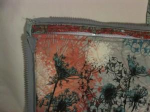 Corner zipper detail, Retreat Tote