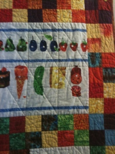 The Very Hungry Caterpillar quilting detail 2