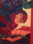 """Detail, """"Parrot's Paradise"""" by Judy Woodworth"""