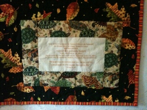 Label detail, Alexander's Quilt