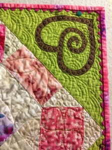 Applique detail, Finley's Quilt