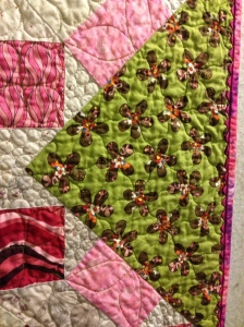 Quilting and binding detail, Finley's Quilt