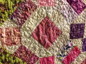 Quilting detail, Finley's Quilt