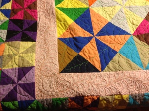 Detail, corner quilting design